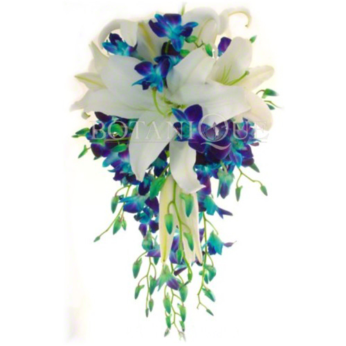 Pictures of Blue Orchid Cascading Bouquet - kidskunst.info