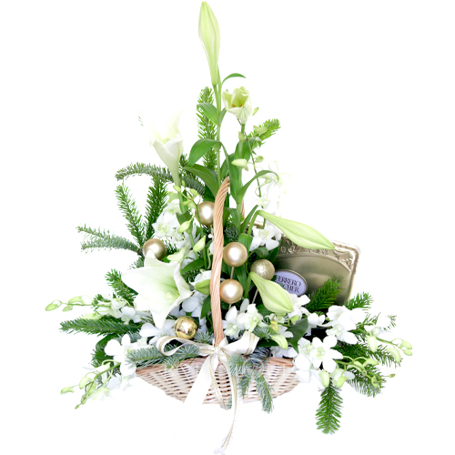white-christmas-flower-basket-with-chocolates-for-gold-coast-australia-delivery.jpg